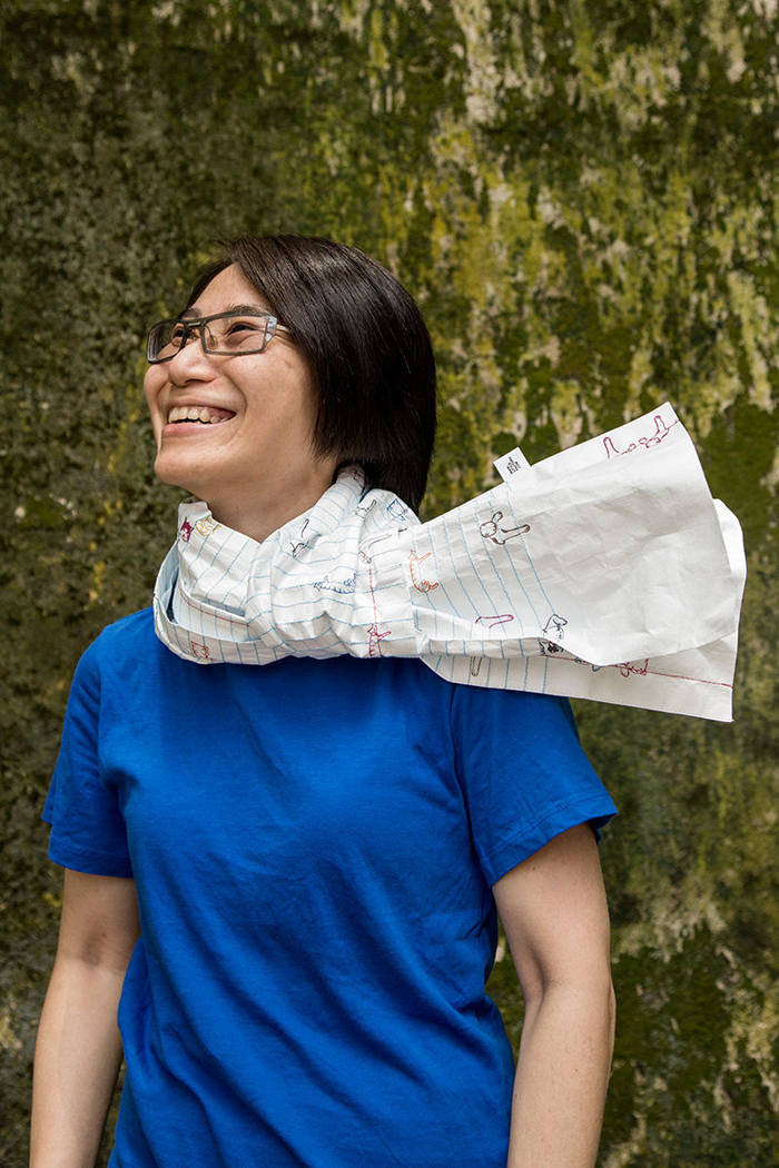 Paper scarf07